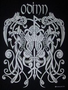 Viking Tattoo Symbol, Norse Tattoo, Viking Tattoo Design, Celtic Tattoos, Viking Tattoos, 3d Tattoos, Tattoo Ink, Sleeve Tattoos, Odin Norse Mythology