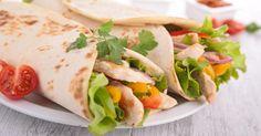 Recette de Wrap épicé au poulet, tomate, poivron et curry. Facile et rapide à réaliser, goûteuse et diététique. Ingrédients, préparation et recettes associées.