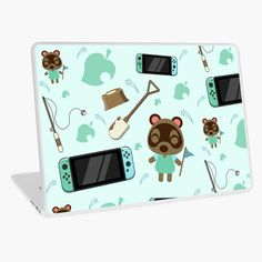 Macbook Air 13, Laptop Skin, Animal Crossing, Nintendo Switch, Vinyl Decals, Vibrant Colors, My Arts, Cases, Art Prints
