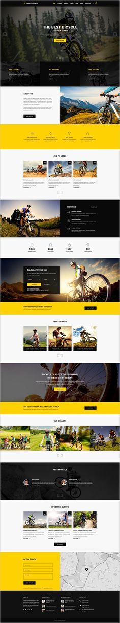Absolute Fitness is a modern and functional #PSD Template for #cycle #bicycle #sports #clubs in different directions: Fitness, GYM, Bodybuilding, Boxing, Dancing, Yoga, Personal Trainer website with 13 unique homepage layouts and 46 organized PSD pages download now➩ https://themeforest.net/item/absolute-fitness-psd-template/18599187?ref=Datasata