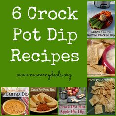 6 Crock Pot Dip Recipes from #mummydeals #crockpot #slowcooker