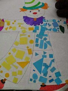 Sempre criança Clown Crafts, Circus Crafts, Carnival Crafts, Carnival Decorations, Summer Crafts, Diy And Crafts, Theme Carnaval, Diy For Kids, Crafts For Kids