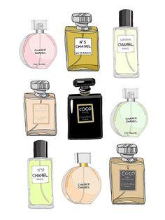 Chanel Perfume Illustration by Emma Kisstina.