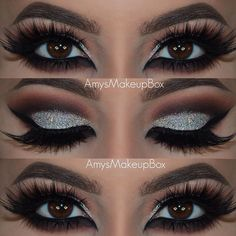 """""""Tag a friend who'd love this for New Years! Merry Christmas everybody! I'm getting excited for NYE and can't wait to create some more looks! Eye Makeup Steps, Makeup Eye Looks, Eye Makeup Art, Smokey Eye Makeup, Love Makeup, Skin Makeup, Makeup Tips, Beauty Makeup, Competition Makeup"""