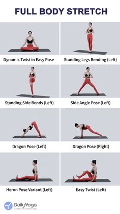 Full Body Stretch - - Full Body Stretch Yoga for Flexibility Take these eight poses to stretch your whole body. Pilates Workout, Yoga Pilates, Gym Workout Videos, Yoga Moves, Hiit, Gym Workouts, At Home Workouts, Full Body Kettlebell Workout, Simple Workouts