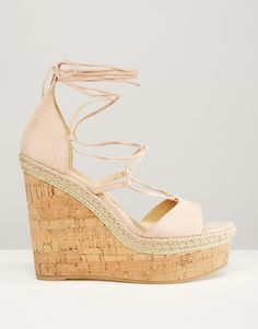 Image 2 -ASOS TAMMI Lace Up Wedge Sandals