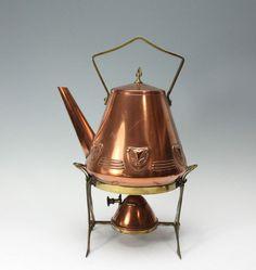 Online veilinghuis Catawiki: Koperen art nouveau komfoor met ketel