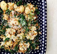 Garlic & Rosemary Cauliflower Salad | freshforkmarket.com