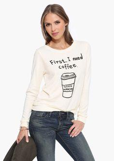 Deposit Coffee Please Sweater
