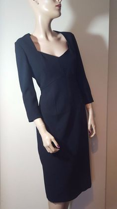 RRP £130 NWT French Connection Black Bodycon Favourite Girl Dress Size 12 #FrenchConnection #StretchBodycon #Formal
