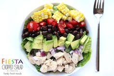 Fiesta Chopped Salad - FamilyFreshMeal