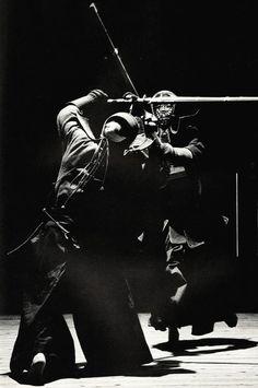 Black & white photo World Martial Art-Japanese Kendo