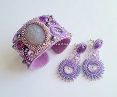 Ksenia Burzalova is russian beadwork artist. She makes beautiful embroidered jewelry using bright and special