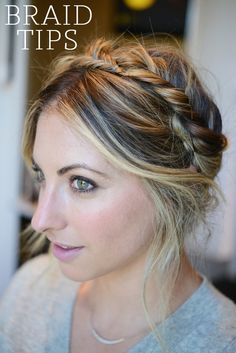 General Tips for Braiding - Cupcakes and Cashmere. Love the highlights and braids. ♥ #bluedivagal, bluedivadesigns.wordpress.com