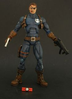 Nick Fury (Classic) (Marvel Legends) Custom Action Figure by Shinobitron by Shinobitron Base figure: Captain America