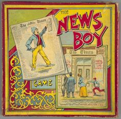 107.4045: The News Boy Game | board game