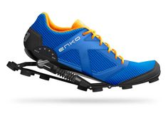 Enko Running Shoes.  Enko has created a next-generation runner with mechanical, impact-absorbing shocks. The interchangeable shocks are adapted to the wearer's weight and switch between walking & running mode for comfort when you're walking & supportive joint protection while running. Available via Indigogo crowdsourcing February 2015