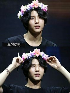 Leo with a flower crown is perfect.