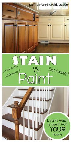 Stain or Paint? What is the main difference and which one is prefect for your next DIY project?
