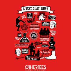 """Very Silly Shirt"" by TomTrager T-shirts, Tank Tops, Sweatshirts and Hoodies on sale until 20th September at Othertees.com Pin it for a chance at a FREE TEE! #montypython #theministryofsillywalks #lifeofbrian #HowtoIrritatePeople #JohnCleese # GrahamChapman #MontyPythonsFlyingCircus #AndNowForSomethingCompletelyDifferent #MontyPythonandtheHolyGrail #MontyPythonstheMeaningofLife"