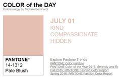 ...y el color de hoy es Sonrojo Pálido, un color amable, compasivo, oculto. Más info en http://www.pyma.com/tutoriales-y-trucos/y-los-colores-pantone-de-esta-semana-sonsemana-del-27-de-junio-al-3-de-julio/