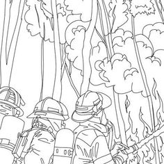 firemen fighting tree fire coloring page free printable fireman coloring pages for toddlers preschool or kindergarten children enjoy this firemen