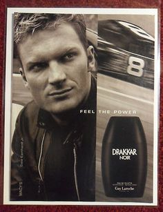 Love this, first seen it in a full page newspaper ad. 2002 Print Ad Drakkar Noir Cologne Dale Earnhardt Jr NASCAR | eBay