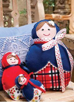 Matrioskas-Trio de bonecas russas-
