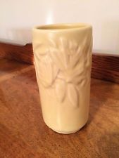 McCoy Vintage Yellow Butterfly Vase 6 inch tall