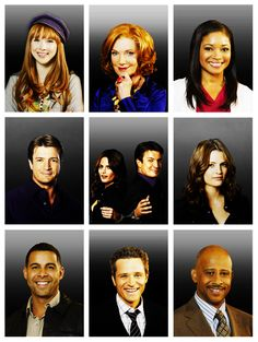 Cast of Castle--I miss Capt Montgomery but Sir is really growing on us, she's actually nice to Castle now, lol.