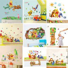 Ingyenes szállítás Cartoon Micimackó és barátai falimatrica gyerekeknek szoba…