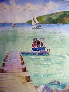 Watercolors by Jinx Morgan - Beaches & Boats