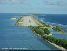 Majuro Intl Airport (Marshall Islands).  Very happy there wasn't a tsumani or a high tide during my layover.
