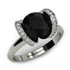 Jacy Black Diamond Ring