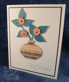 Punch Art Vase by chanteuse - Cards and Paper Crafts at Splitcoaststampers