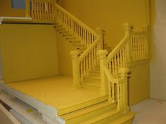 Late Victorian English Manor Dollhouse: Miniature from Scratch: Grand Staircase Miniature Dollhouse Furniture, Miniature Houses, Dollhouse Miniatures, Dollhouse Ideas, Miniature Rooms, Staircase Railings, Grand Staircase, Stairways, Dollhouse Staircase