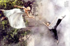 """""""Flights of Fancy"""": Caroline Trentini Plays Ballerina with the Billy Elliot Cast by Arthur Elgort for US Vogue"""