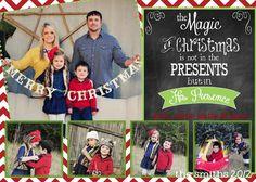 Custom Digital Photo Christmas Card Chevron by LaLoopsieInvites