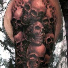 Skulls half sleeve