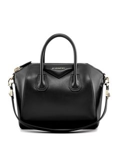 Givenchy Antigona Small Box Calf Leather Satchel Bag, Black