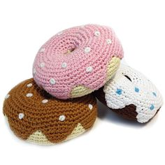 Organic Cotton Crochet Donuts for dogs