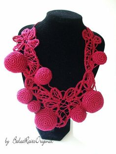 Bordeaux Romanian Point Lace Boho Crochet by BaleaRaitzART on Etsy, $44.99