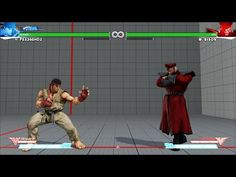 [PS4] Street Fighter 5: Beta - Training Mode: Ryu x Bison Gameplay (60fps 1080p) - YouTube