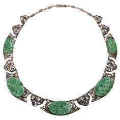 1stdibs - Antique++Jade++&++Sapphire+Necklace explore items from 1,700+ global dealers at 1stdibs.com