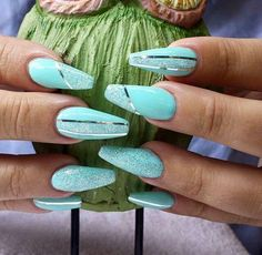 Coffin nails turquoise
