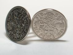 1961 Original Lucky Sixpence 6d birthday / Anniversary Cufflinks ideal for a 53rd birthday cufflinks #Fathers #Day