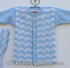Free Knitting Pattern - Baby Knits: Baby Ripple Cardigan
