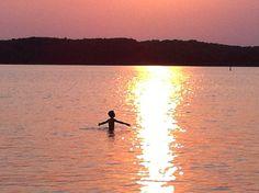 Sunset swim in Georgian Bay @ Parry Sound