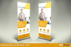 Business Roll-Up Banner - Sign Board Design, Banner Design, Presentation Design Template, Design Templates, Roll Up Design, Cover Design, Advertising Tools, Photoshop Cs5, Business Brochure