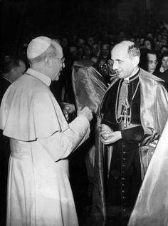 Pope Pius XII and Giovanni Montini, the Future Pope Paul VI